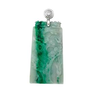 Non Signé / Unsigned Non Signe / Unsigned Other Jade Pendants