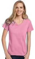 Hanes Relaxed Fit Women's ComfortSoft V-neck T-Shirt Women's Tops