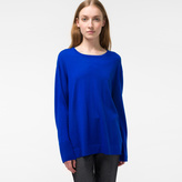 Paul Smith Women's Indigo Button-Back Merino Wool Sweater