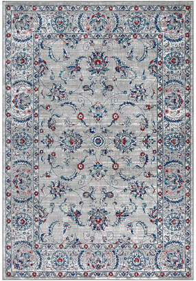 """Jonathan Y Designs Modern Persian Vintage Rug, Light Gray and Red, 5'3""""x7'6"""""""