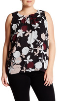 Vince Camuto Sleeveless Floral Blouse (Plus Size)