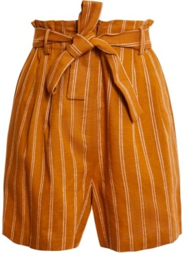 BCBGMAXAZRIA Striped Tie-Waist Shorts