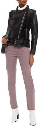 Muu Baa Muubaa Aurora Shearling-paneled Leather Biker Jacket