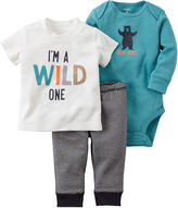 Carter's 3-pc. Long-Sleeve Bodysuit, Short-Sleeve Top & Pants Set - Baby Boys newborn-12m