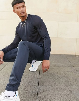 ASOS DESIGN smart jogger in navy