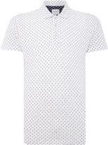 Peter Werth Men's Hippie Floral Print Jersey Polo Shirt