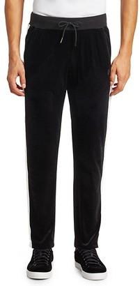 Madison Supply Velvet Snap Stripe Track Pants