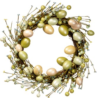 National Tree Company Iridescent Artificial Easter Egg Wreath