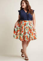 Hell Bunny Seize the Season A-Line Skirt in 3X - Mid by Hell Bunny from ModCloth