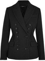 Joseph Jacky Double-breasted Twill Blazer - Black