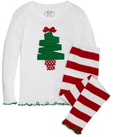 Sara's Prints Infant Girls' Tree Appliqué Pajama Set - Sizes 12-24 Months