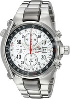 Orient Men's CTD0G002W Alarm Chronograph (minute and 1/5 Second) with Date and Internal Rotating Ring with Slide Rule Calculator