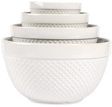 Bed Bath & Beyond Tabletops Gallery Hobnail White 4-Piece Mixing Bowl Set