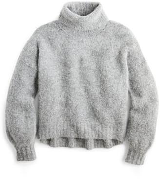 J.Crew Balloon Sleeve Fuzzy Turtleneck Sweater