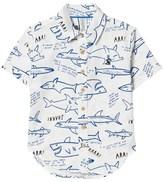 Joules White Shark Print Shirt