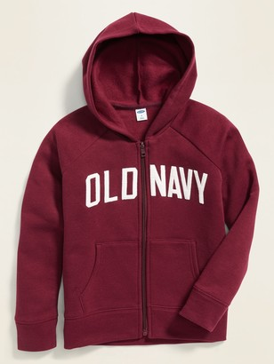 Old Navy Logo-Applique Zip Hoodie for Girls