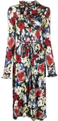 Erdem Floral Wrap Dress