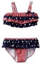Hartstrings American 2-Pc Bathing Suit - Red Stripe- 2T