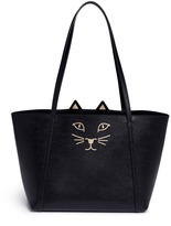 Charlotte Olympia 'Mini Feline Shopper' saffiano leather tote