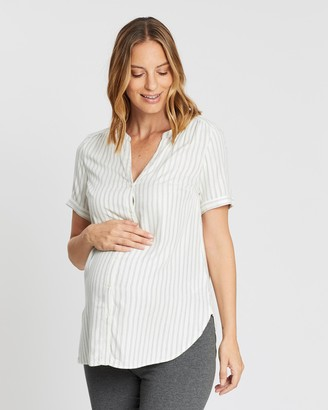 Gap Maternity Maternity Short Sleeve Button-Down Shirt