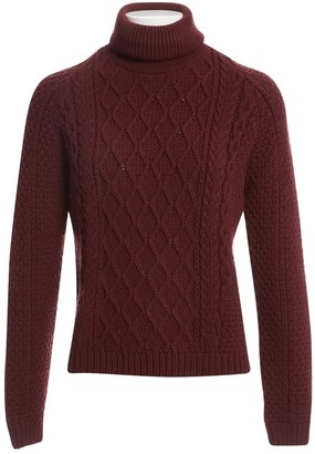 Balenciaga Burgundy Synthetic Knitwear