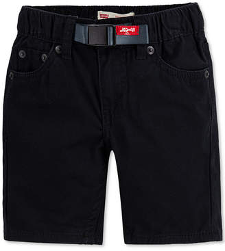 Levi's Little Boys 502 Regular-Tapered Fit Twill Camp Shorts