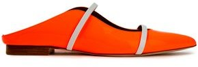 Malone Souliers Maureen Cutout Patent-leather Slippers