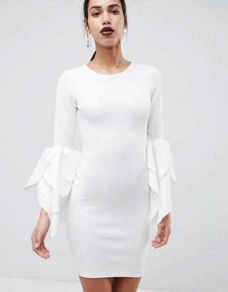 Club L London Club L Sleeve Detail Scuba Bodycon Dress