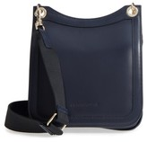 Creatures of Comfort Leather Equestrian Crossbody Bag - Blue