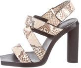 Calvin Klein Collection Snakeskin Ankle Strap Sandals