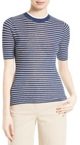 Theory Women's Hemitza Stripe Linen Blend Top