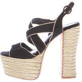 Alice + Olivia Suede Platform Sandals