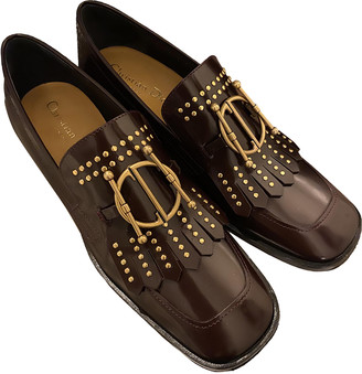 Christian Dior DiorDirection Burgundy Patent leather Flats