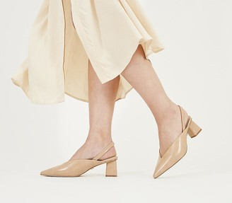Office Melbourne Feature Heel Court Shoes Nude