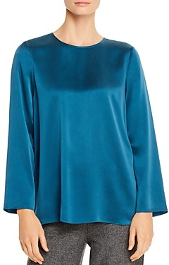Eileen Fisher Petites Silk Boxy Top - 100% Exclusive