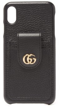 Gucci GG Marmont Leather Iphone Xs Max Phone Case - Black