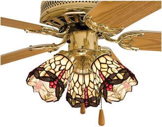 Tiffany & Co. Meyda 4 Hanginghead Dragonfly Fan Light Shade