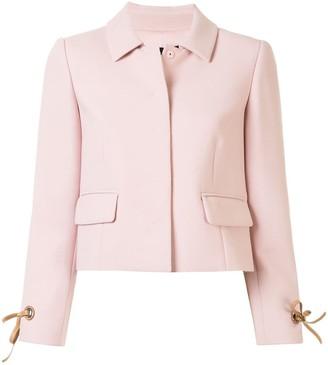 Paule Ka Long Sleeve Cropped Jacket
