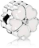 Pandora White primrose clip
