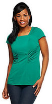 George Simonton As Is Chic Jersey Square Neck Top with Seaming Detail