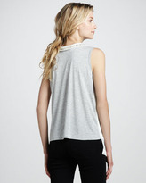 Robert Rodriguez Beaded Contrast-Back Tank