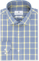 Ryan Seacrest Distinction Men's Slim-Fit Non-Iron Navy Plaid Dress Shirt, Only at Macy's