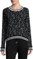 Betsey Johnson Women's Printed Cotton Sweatshirt
