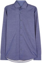 Boss Gordon Blue Cotton Shirt
