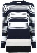 J.W.Anderson layered striped pullover - women - Merino - S