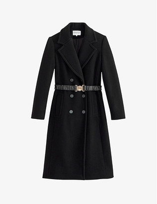 Claudie Pierlot Gelata belted wool and cashmere-blend coat