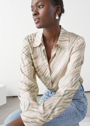 And other stories Satin Shell Button Blouse