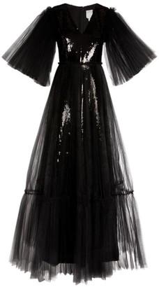 Huishan Zhang Juno Sequin-Embellished Tulle Gown