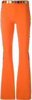 Moschino mirror embroidered flared trousers - women - Polyester/Triacetate - 38