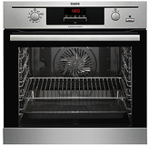 AEG BP500352DM Single Built-In Multifunction SteamBake Oven, Stainless Steel